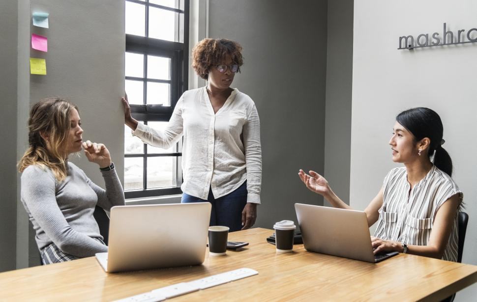 Download Free Stock HD Photo of Women colleagues in a business meeting Online