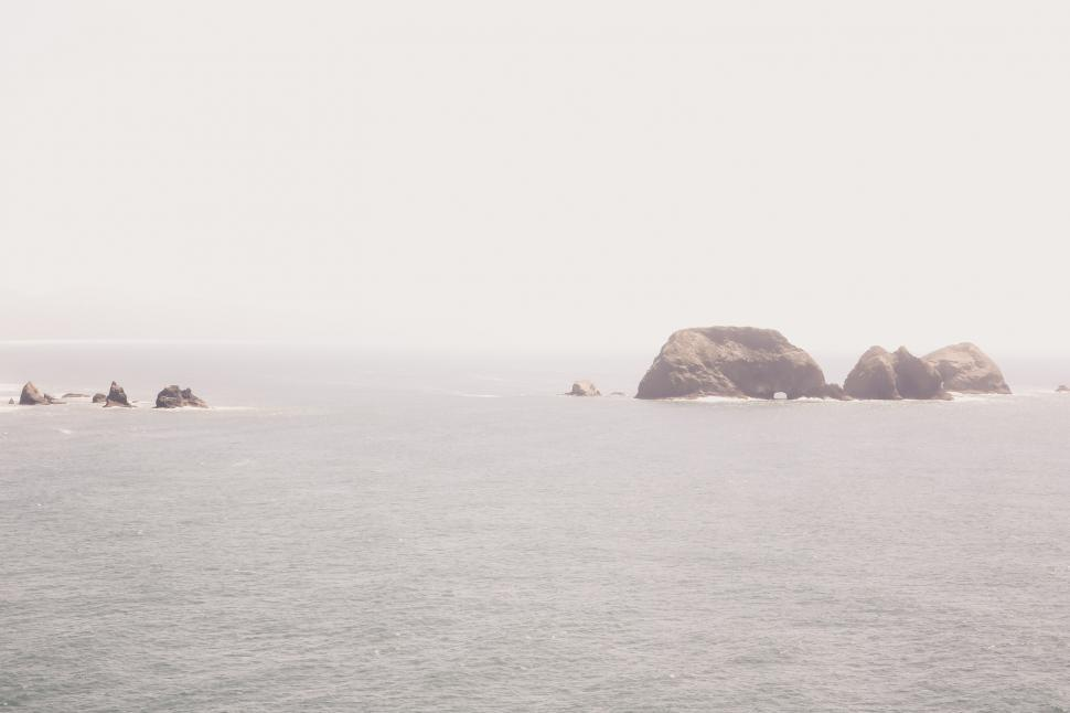 Download Free Stock HD Photo of Washed Out Seascape Online