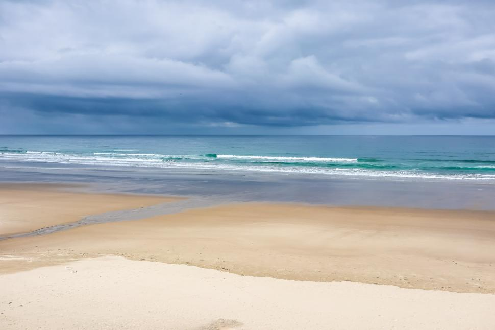 Download Free Stock HD Photo of Wide, Flat, Sandy Beach Online