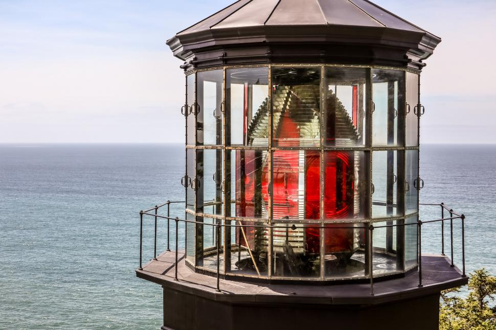 Download Free Stock HD Photo of Cape Meares  Lighthouse Lens, Oregon Online