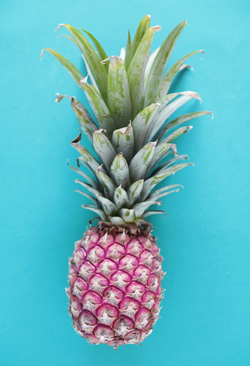Download Free Stock HD Photo of Flat lay of a pineapple Online