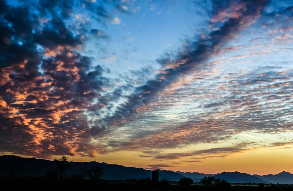 Download Free Stock HD Photo of Sunset Sky with dramatic clouds Online