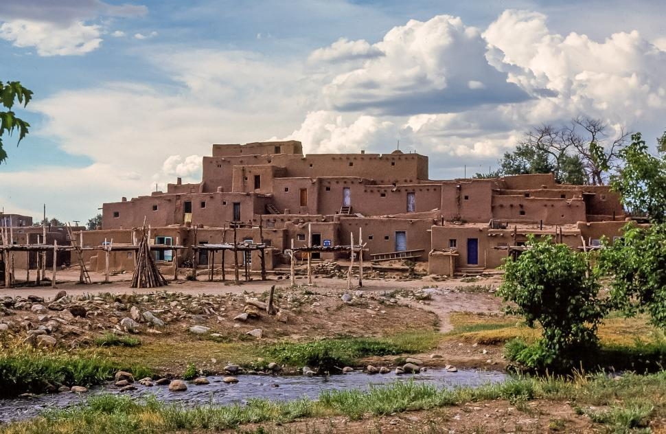 Download Free Stock HD Photo of Taos Pueblo, New Mexico Online