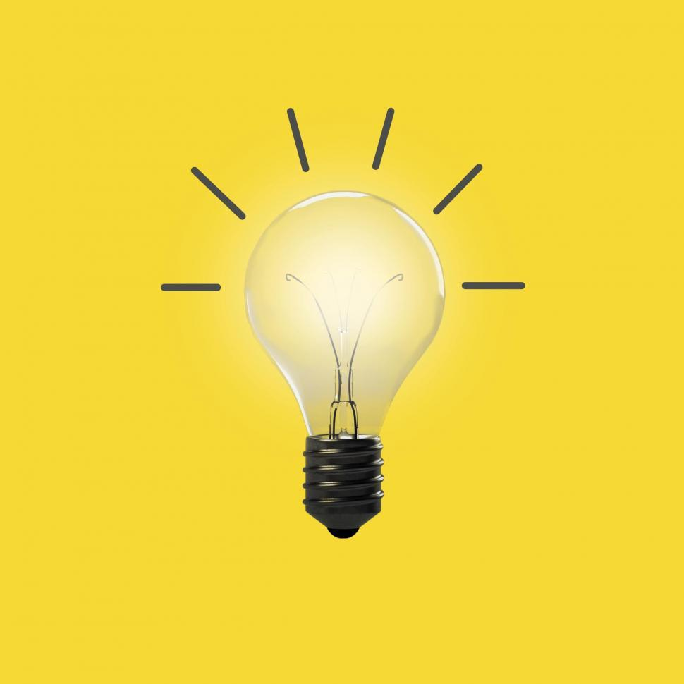 Download Free Stock HD Photo of Good Idea - Concept with Light Bulb on Yellow Online