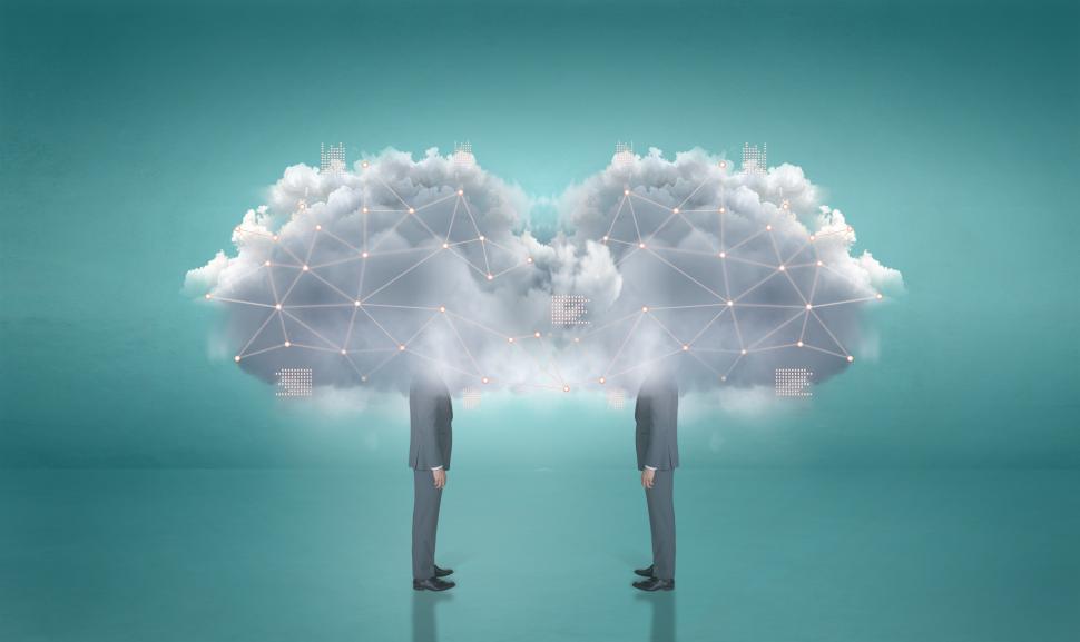 Download Free Stock HD Photo of Digital Transformation - Businessmen - Digital Cloud Tech - IT  Online
