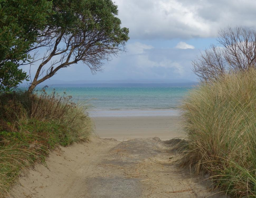 Download Free Stock HD Photo of Pathway to Beautiful Beach  Online