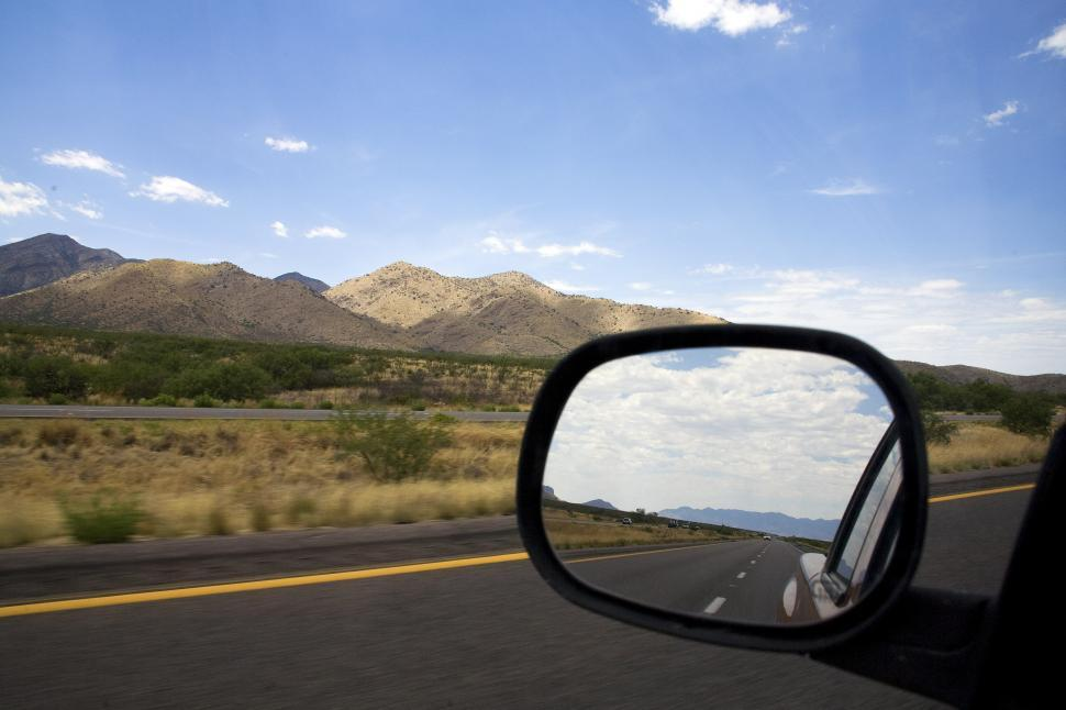 Download Free Stock HD Photo of driving through desert foothills Online