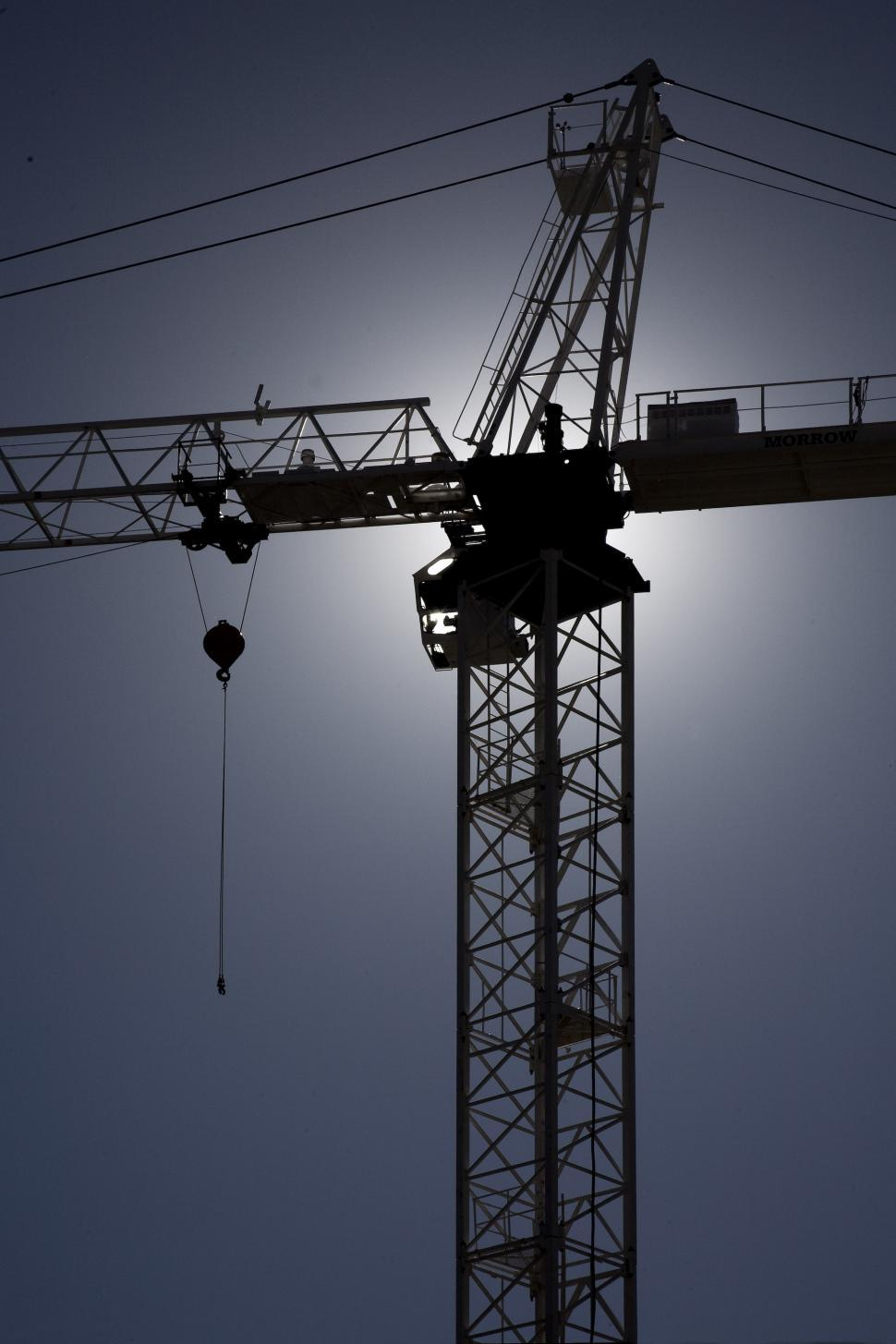 Download Free Stock HD Photo of silhouette of construction crane Online