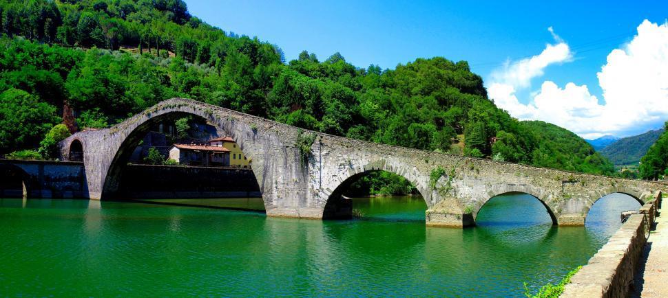 Download Free Stock HD Photo of Ponte della Maddalena - Ponte del Diavolo - Devils Bridge - Lucc Online