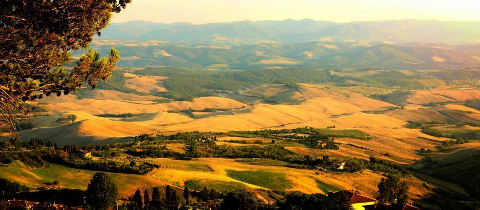 Download Free Stock HD Photo of Tuscany - Italy - View of Countryside from Volterra Online