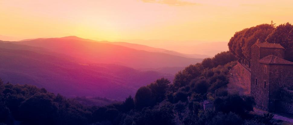 Download Free Stock HD Photo of Tuscany - Italy - View of Countryside from Montalcino Online