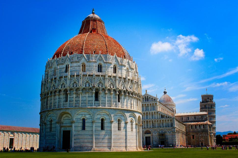 Download Free Stock HD Photo of Baptistery - Cathedral - Leaning Tower of Pisa - Piazza dei Mira Online