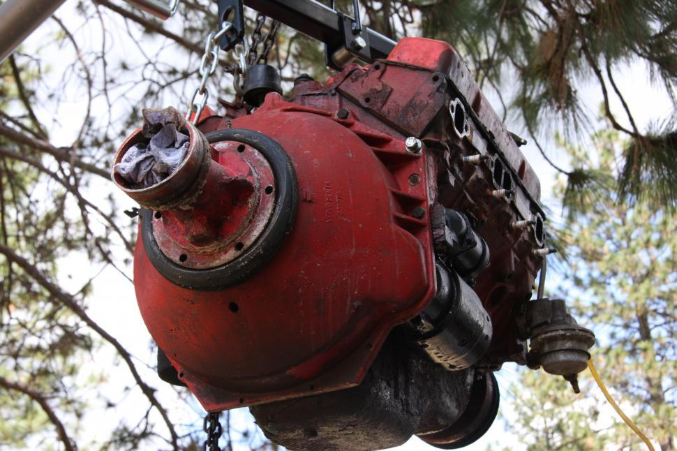 Download Free Stock HD Photo of Hoisting boat engine Online