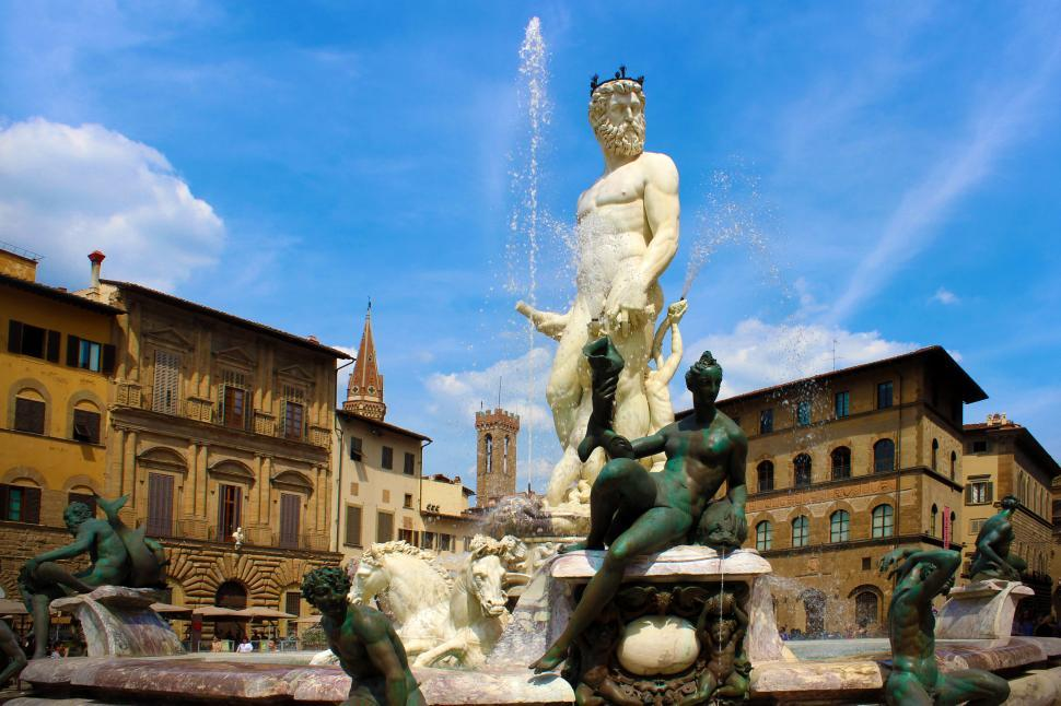 Download Free Stock HD Photo of Fountain of Neptune - Piazza della Signoria - Florence - Tuscany Online