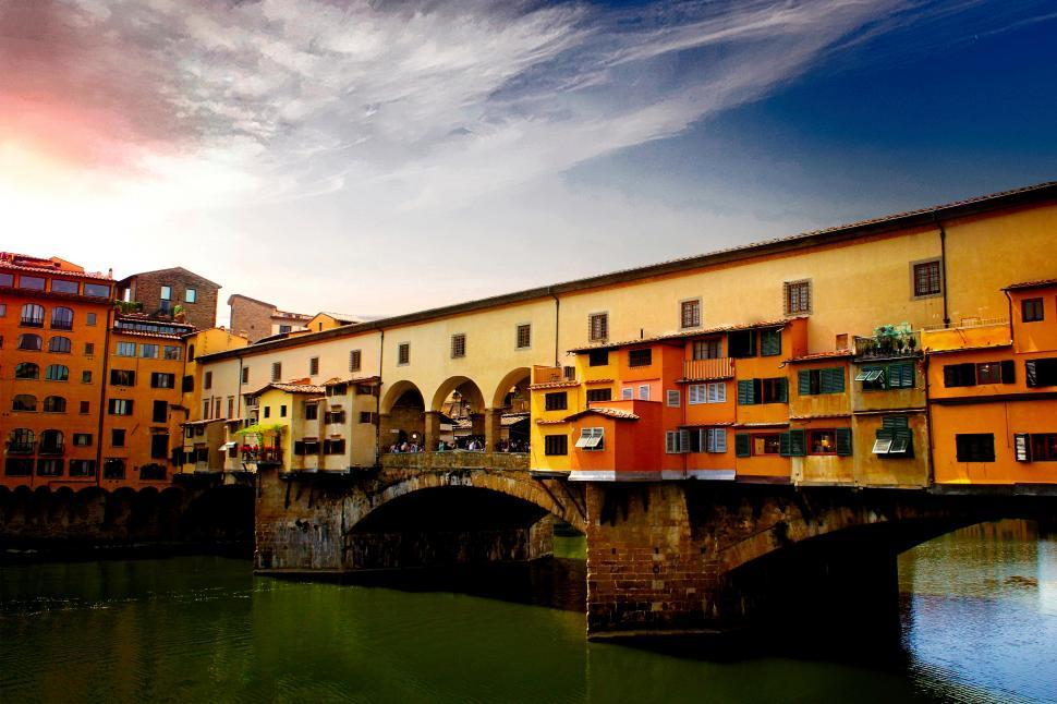 Download Free Stock HD Photo of Ponte Vecchio - Florence - Tuscany - Italy - Arno River Online