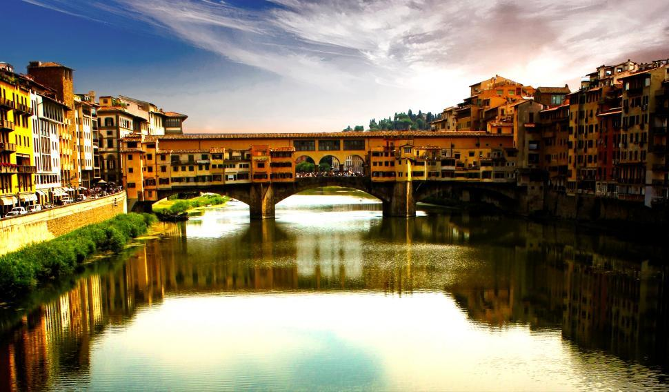 Download Free Stock HD Photo of Ponte Vecchio - Florence - Tuscany - Italy - Famous Landmark Online