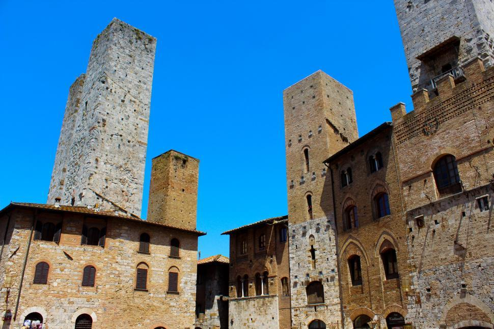 Download Free Stock HD Photo of Romanesque and Gothic Architectural Details - San Gimignano - Tu Online