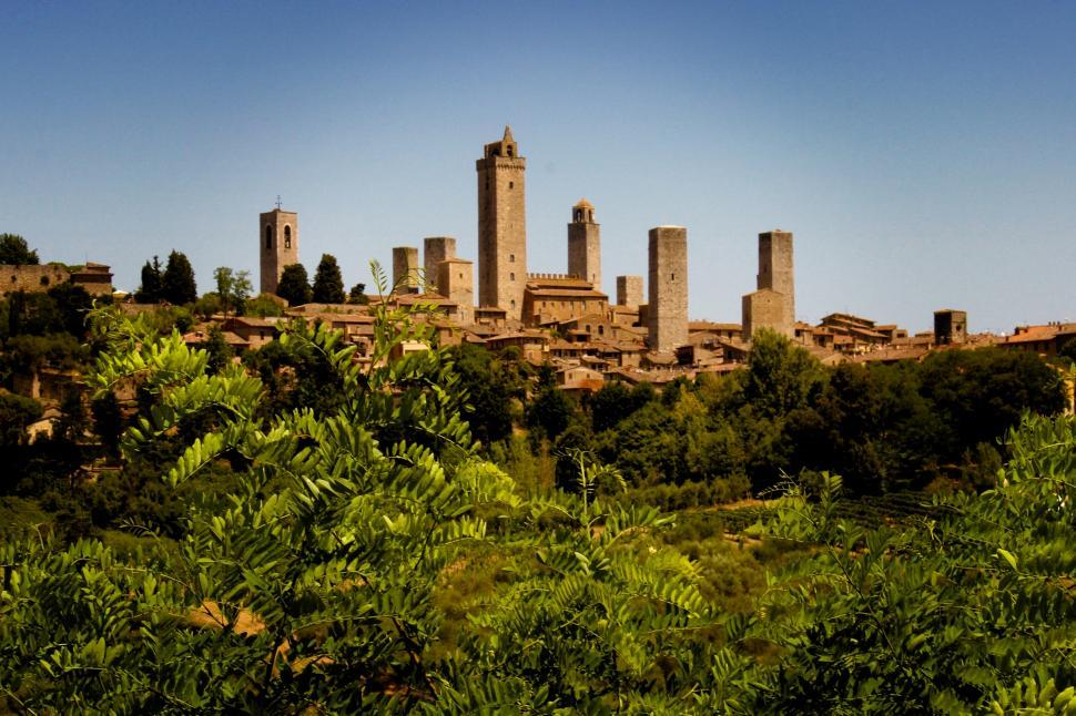Download Free Stock HD Photo of San Gimignano - Walled Medieval Town - Tuscany - Italy Online