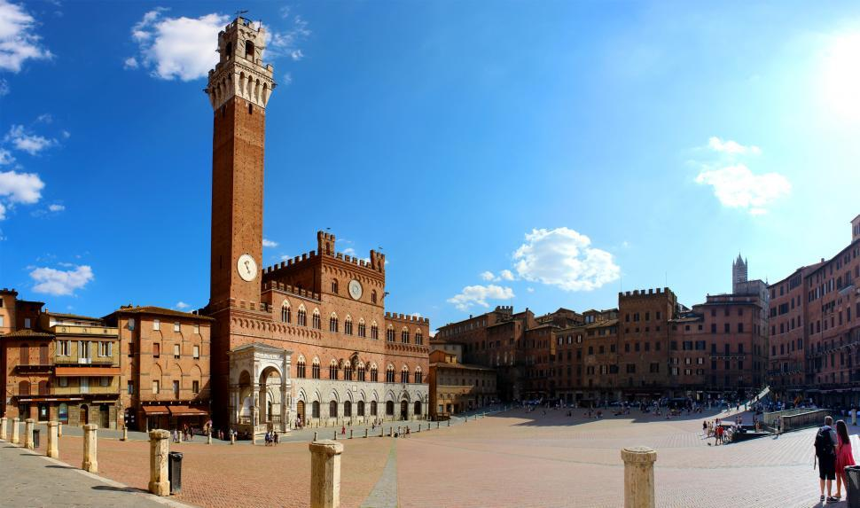 Download Free Stock HD Photo of Siena - Piazza del Campo - Palio - Torre del Mangia - Tuscany -  Online
