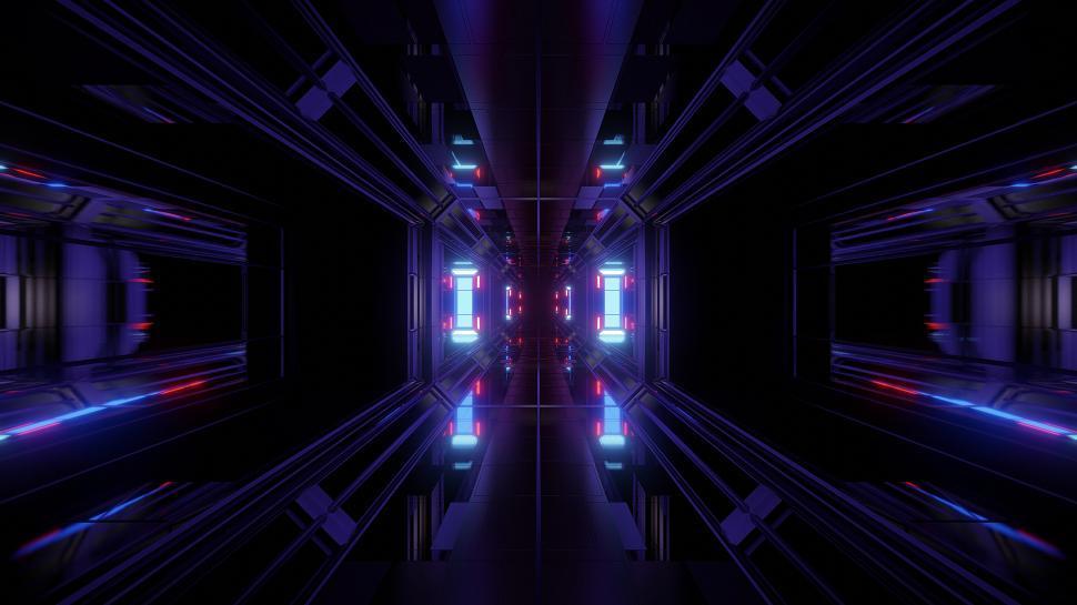 Download Free Stock HD Photo of futuristic science-fiction tunnel corridor 3d illustration background futuristic science-fiction tunnel corridor 3d illustration vjloop background Online