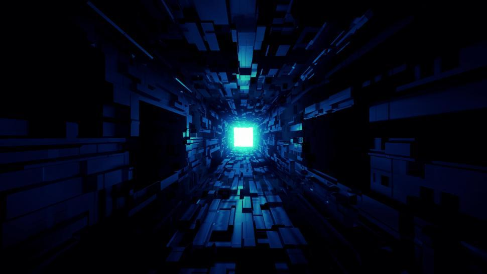 Download Free Stock HD Photo of futuristic space tunnel corridor with nice glowing shine background 3d rendering Online