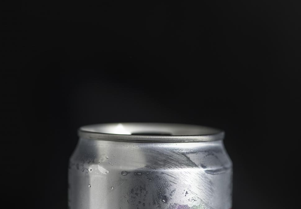 Download Free Stock HD Photo of Close up of an aluminium can with copyspace Online