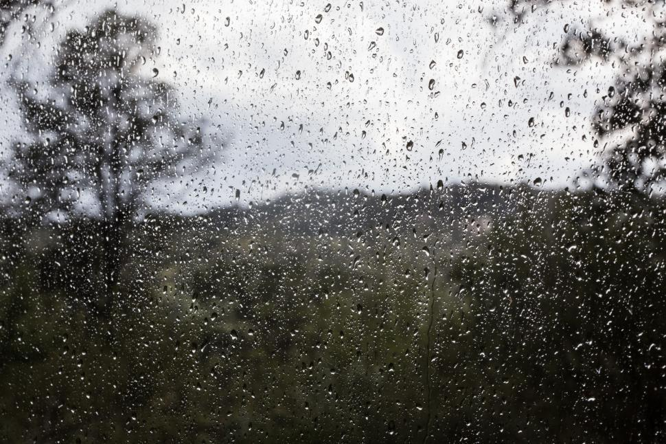 Download Free Stock HD Photo of Water beading on a window Online