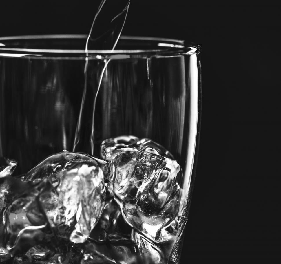 Download Free Stock HD Photo of Close up of water being poured into a glass Online