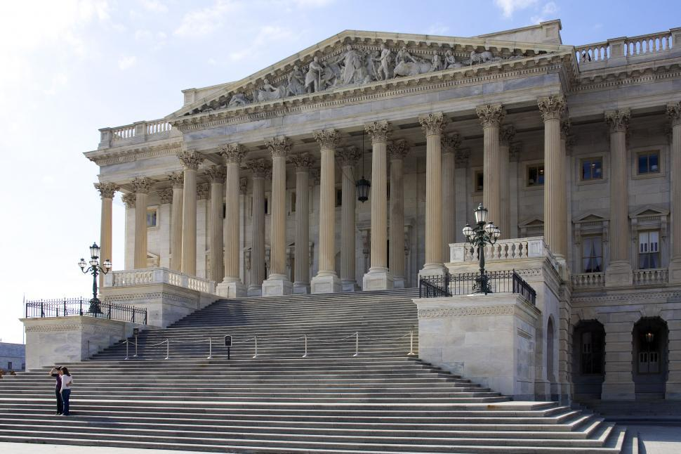 Download Free Stock HD Photo of Old Congress facade at US capitol Online