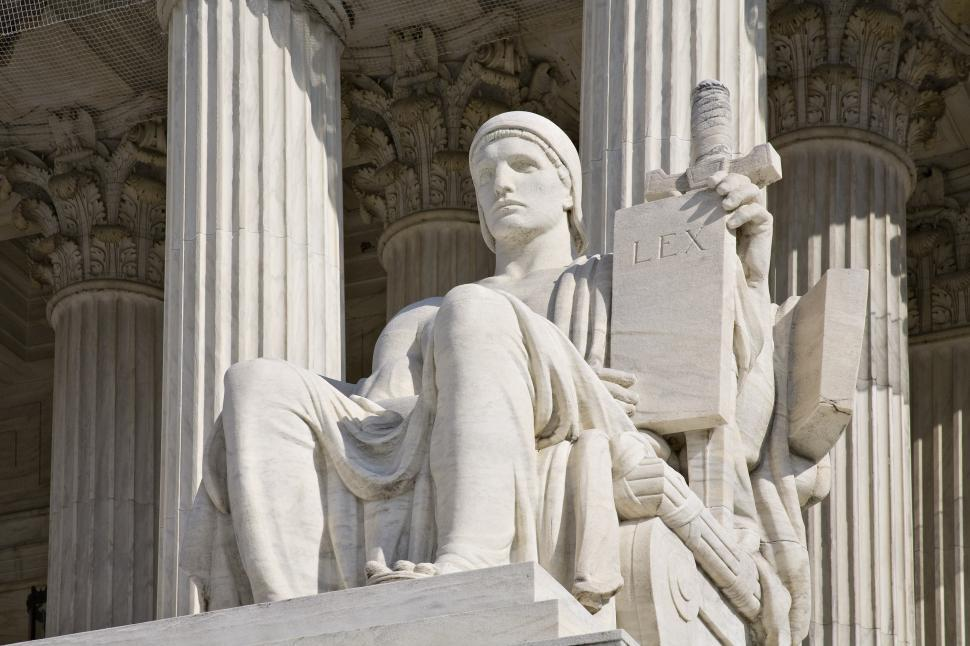 Download Free Stock HD Photo of Seated Statue at US Supreme Court Online