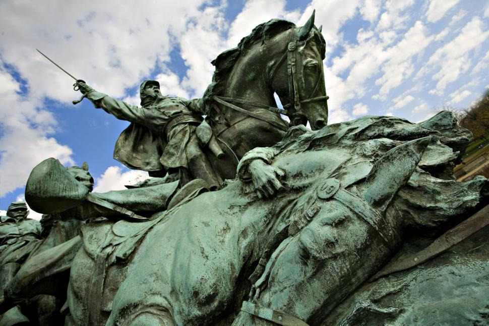 Download Free Stock HD Photo of Soldier Monument Sculpture at US Capitol Online