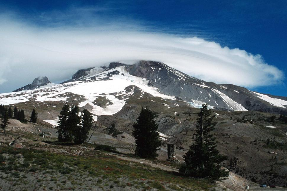 Download Free Stock HD Photo of Clouds over Mt. Hood Online