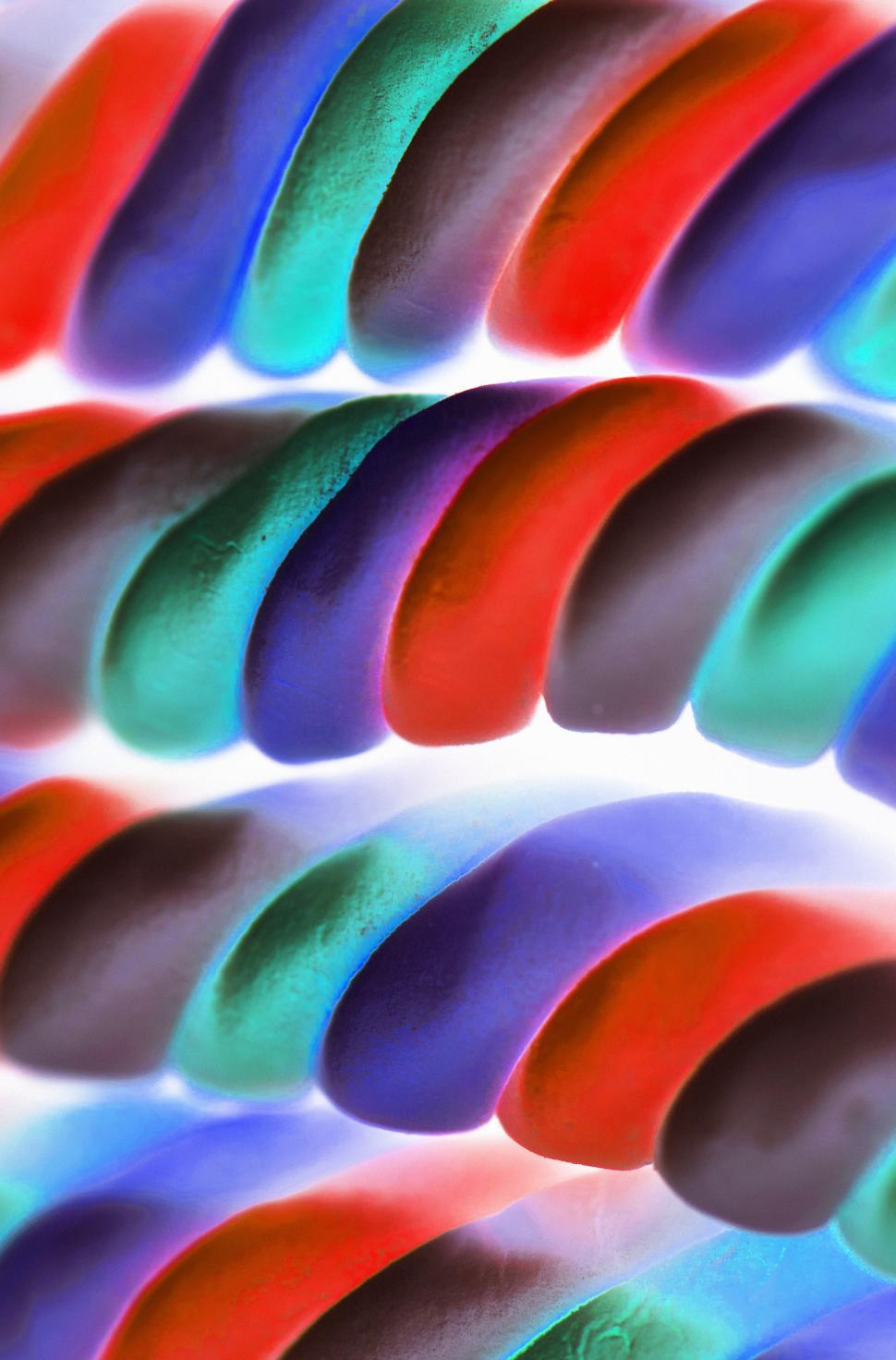 Download Free Stock HD Photo of Inverted color image of marshmallow twists Online