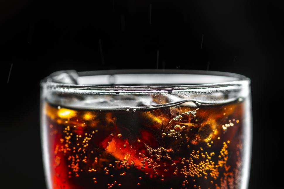 Download Free Stock HD Photo of Cola soft drink served in a pint glass Online