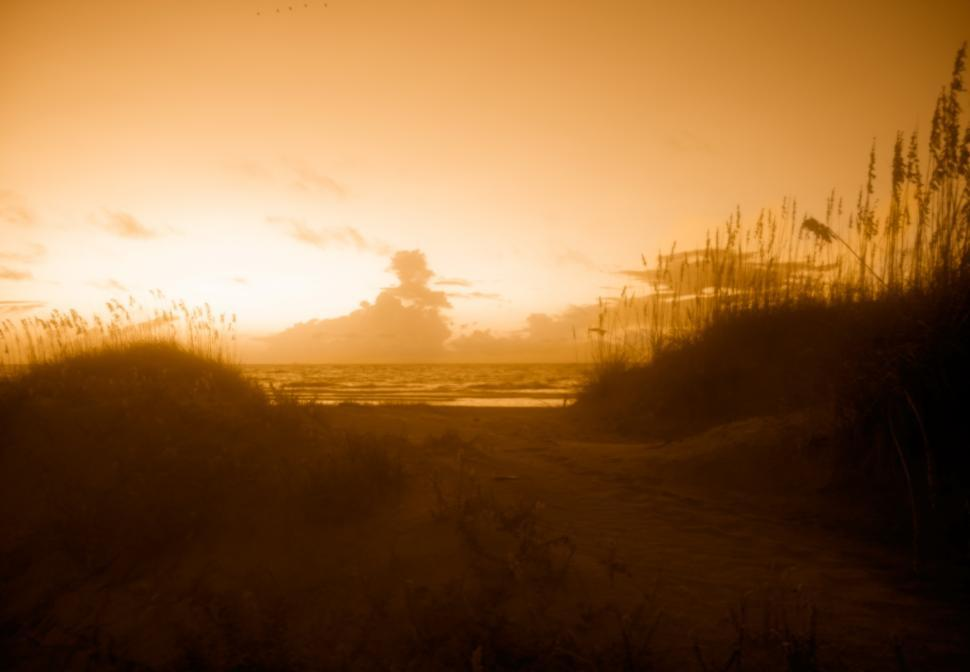 Download Free Stock HD Photo of Sun Rise over Tybee Island Online