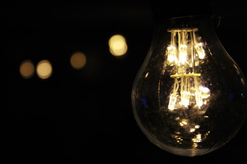 Free Stock Photo of Light Bulb in dark room Online ...
