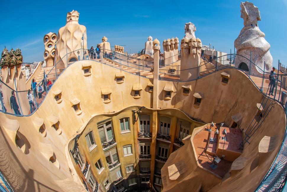 Casa Milà terrace with sky