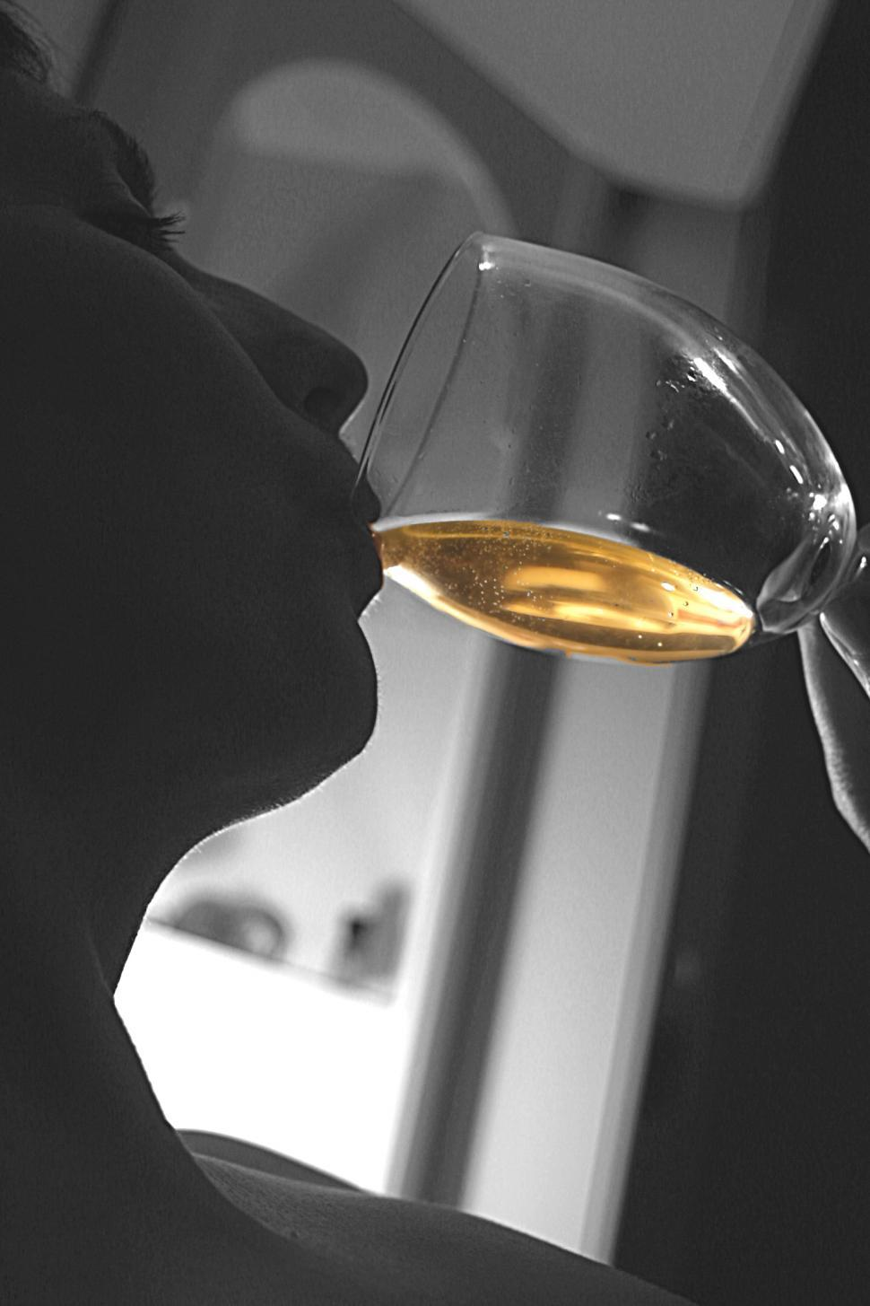 Free image of Enjoying a glass of wine is always a pleasure.