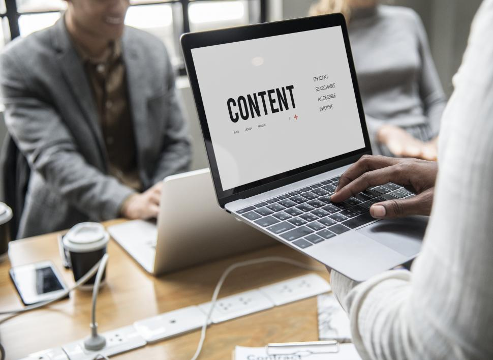 Download Free Stock HD Photo of Hands typing on the laptop with CONTENT Online