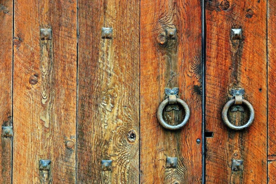 Download Free Stock HD Photo of Gate with two pulls Online