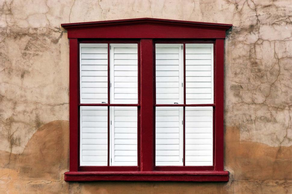 Download Free Stock HD Photo of Clean window on stucco Online