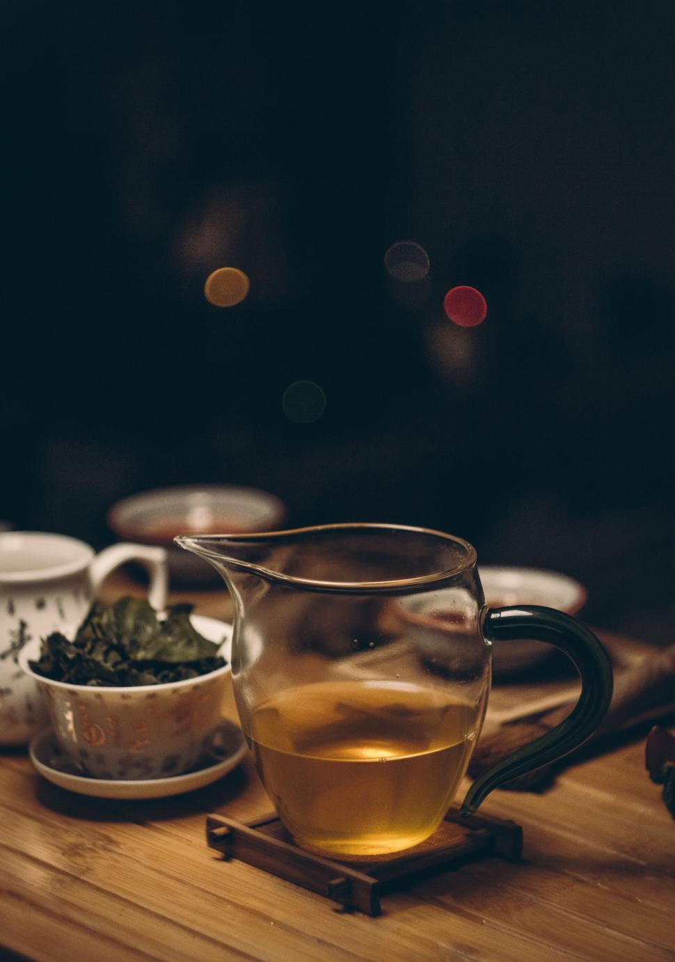 Get Free Stock Photos Of Hot Green Tea In Glass Pitcher Online Download Latest Free Images And Free Illustrations