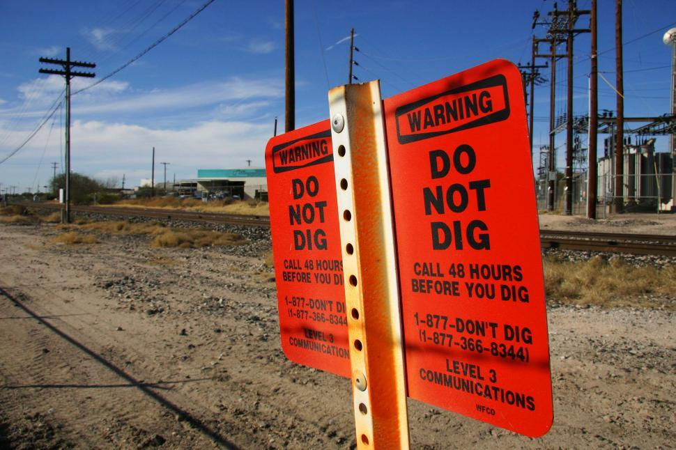 Download Free Stock HD Photo of Warning Sign - Do Not Dig Online