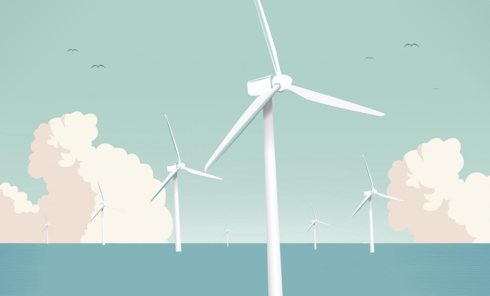 Download Free Stock HD Photo of Wind Farm at Sea - Green Energy Online