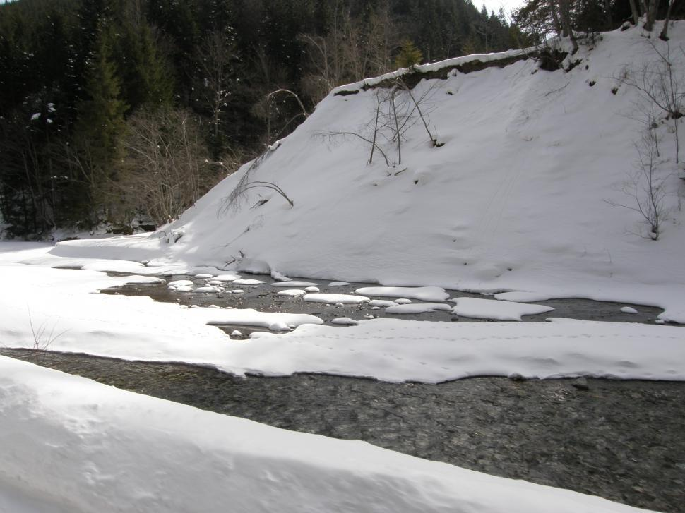 Download Free Stock HD Photo of Small mountain creek in the middle of the winter Online