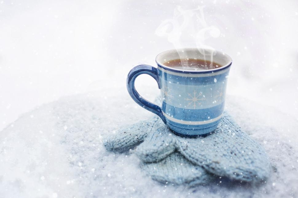 Free Stock Photo of Hot Coffee and Gloves in Snow Online | Download Latest  Free Images and Free Illustrations