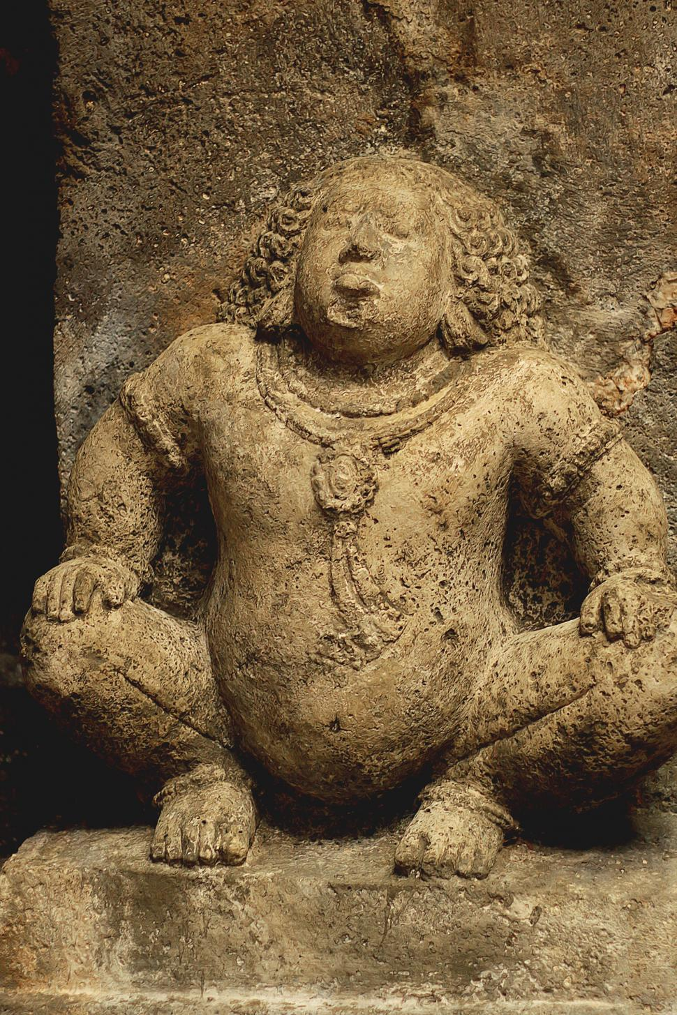 Download Free Stock HD Photo of Stone Carved Ancient Buddhist Sculpture Ancien Stone Sculpture from Ajanta Caves Online