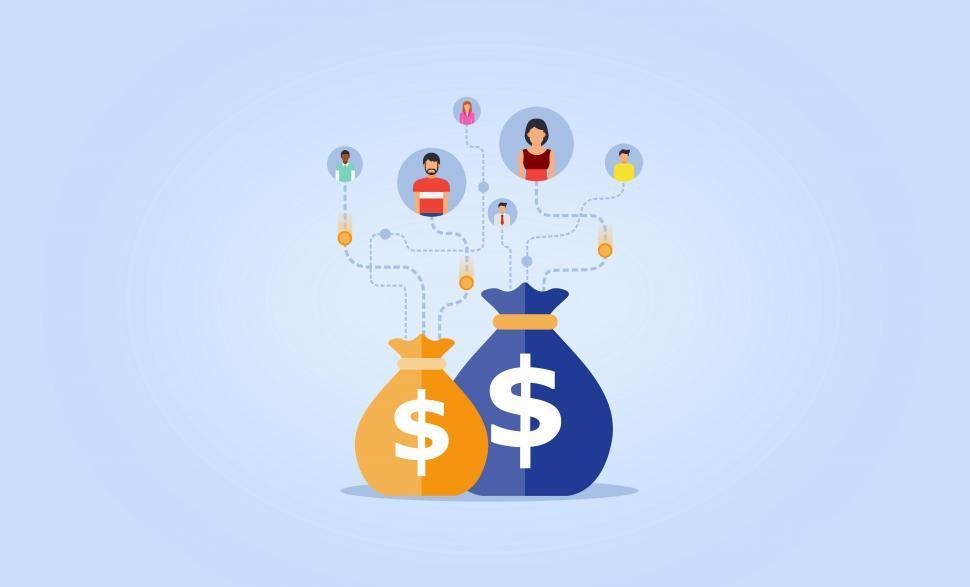 Crowdfunding - Crowd Lending - Concept