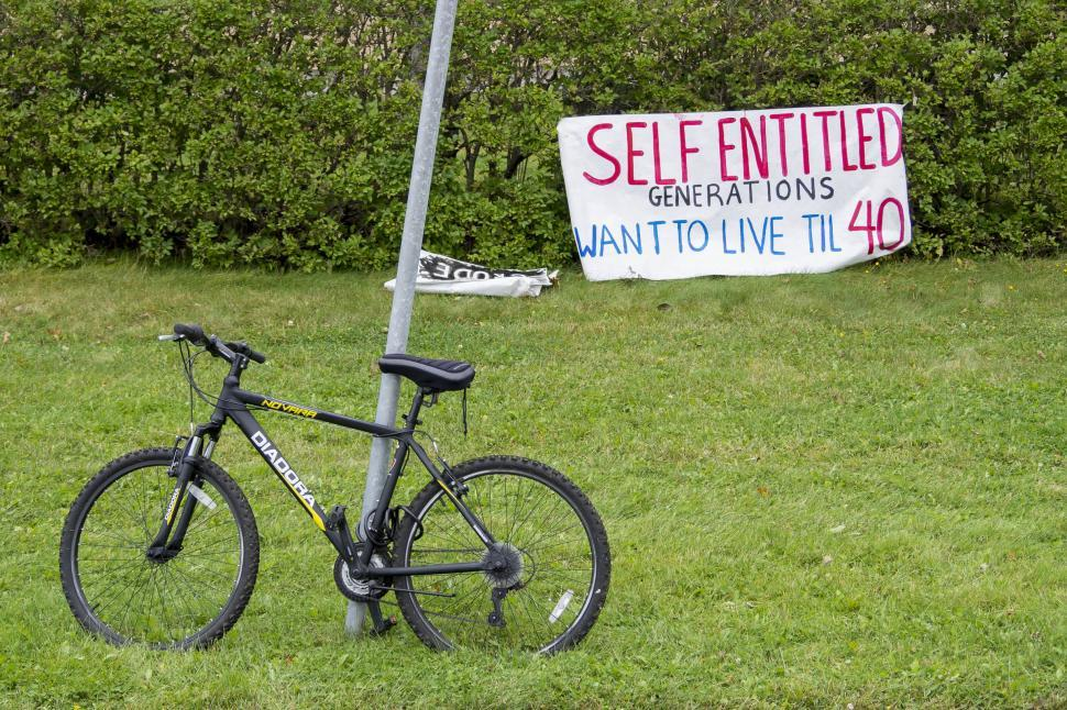 Download Free Stock HD Photo of Bike at a Climate protest Online