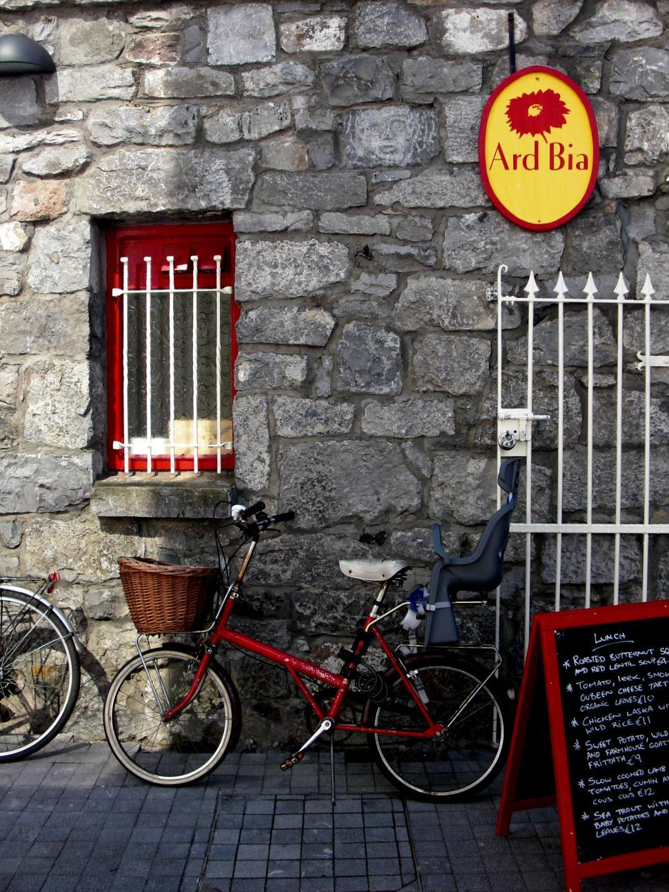 Download Free Stock HD Photo of Ireland - Galway - Bike and Bistro Online